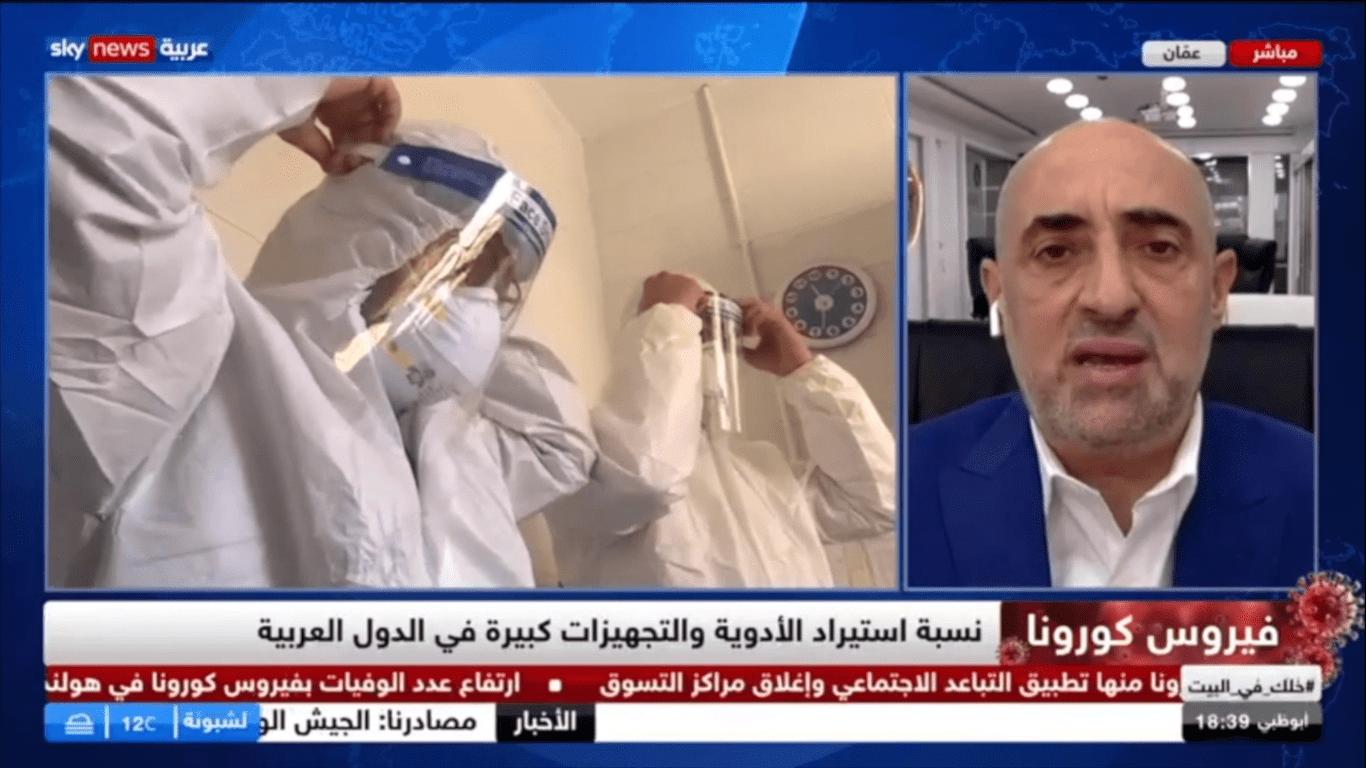 د. اديب الزعبي يشيد بإدارة الدول العربية لازمة كورونا ويدعو الى تعزيز التصنيع الطبي العربي ،