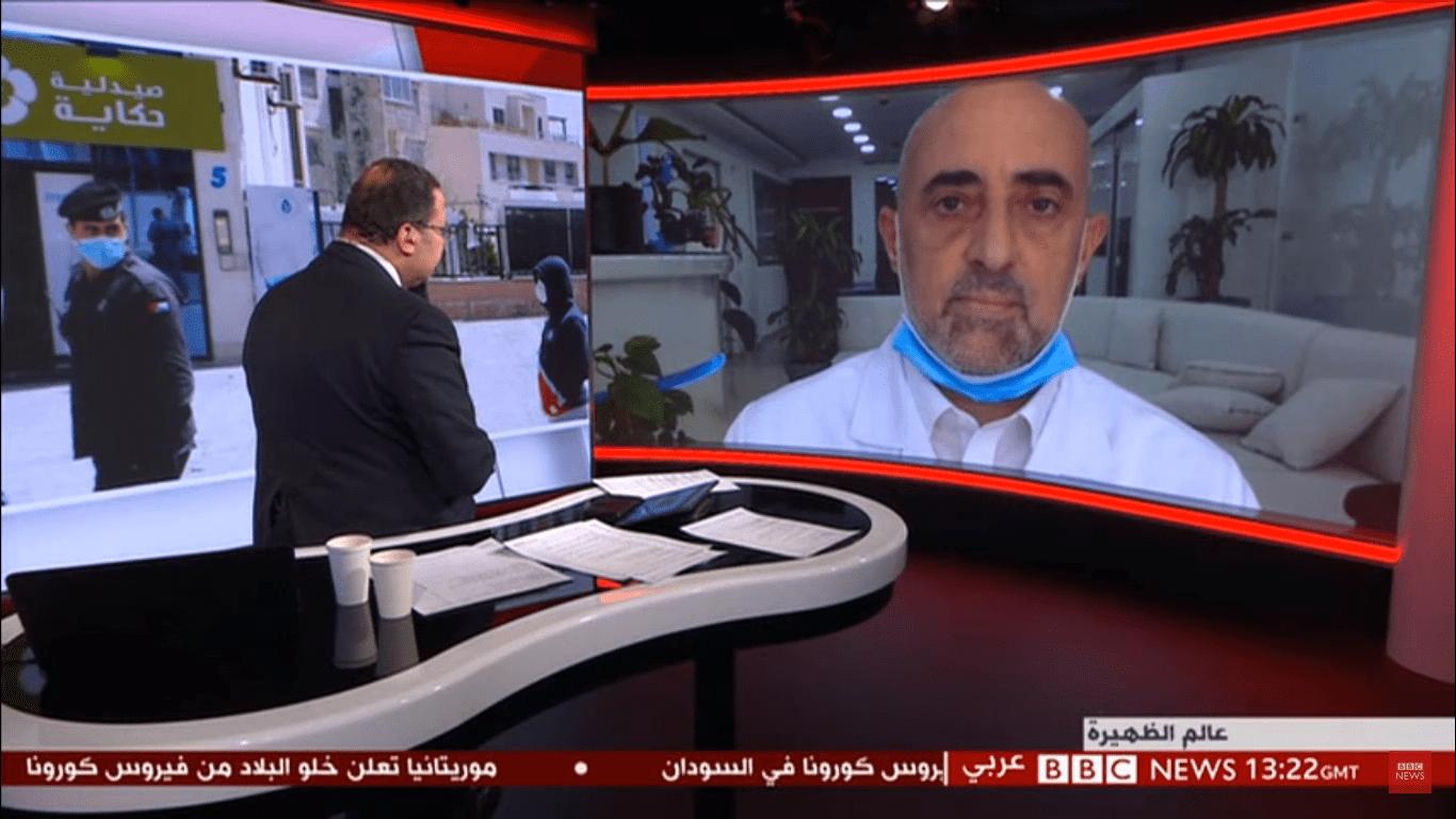 د. أديب الزعبي، قناة BBC